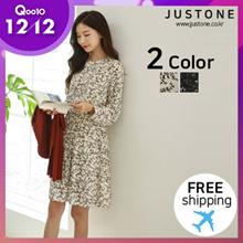 [JUSTONE👗] Anna S. S. Flare One-piece/ Free Shipping / Korean Fashion