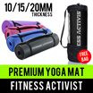 ⏰💪★★Premium Quality Comfort★★NBR/PVC★★Extra Thick 6/10/15MM Yoga Mat★★Singapore Seller★★Fast Delivery via Qxpress★★
