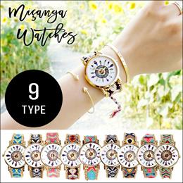 レディース 腕時計 ミサンガ ウォッチ エスニック 羽の文字盤 全9色 #F1641