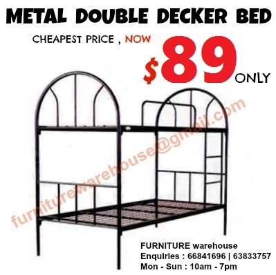 Qoo10 - NEW PROMOTION  Metal Double Decker Bed at $89 ONLY [FURNITURE ...