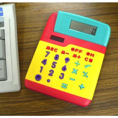 カラフル8桁電卓の画像