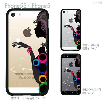 【数量限定商品】【iPhone5S】【iPhone5】【iPhone5sケース】【iPhone5ケース】【クリア カバー】【スマホケース】【クリアケース】【ハードケース】【着せ替え】【イラスト】【クリアーアーツ】【ガール】 02-ip5s-f0016の画像