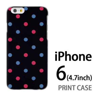 iPhone6 (4.7インチ) 用『0822 水赤ドット』特殊印刷ケース【 iphone6 iphone アイフォン アイフォン6 au docomo softbank Apple ケース プリント カバー スマホケース スマホカバー 】の画像