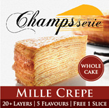 EarlyBird Special Promotion! 20+ Layers Mille Crepe Cake. Fresh HandMade Daily with Premium Ingredients. 5 flavours to choose from. Free 1 slice when you self collect.