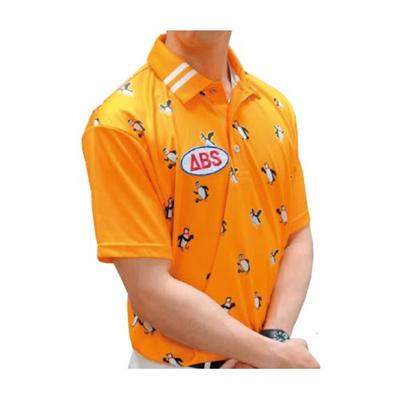 アメリカンボウリングサービス(ABS) 5パピンポロ AW-1414 オレンジ 【ユニセックス ボウリングウェア ボーリング 半袖シャツ】の画像