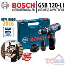 Bosch GSB 120-LI Cordless Impact driver drill 12V NEW MODEL 2016. Drill WoodSteelMasonry. GSB 1080