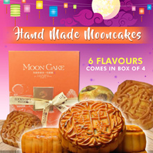 Hand Made-Traditional Baked Mooncakes (6 Flavours) (Box of 4)(Mooncake Fest) Last Week Special