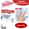Disposable Nail Polish Remover Foil Wraps - 200 Pcs