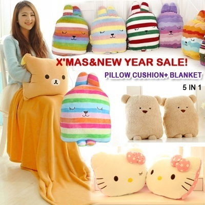 Squishy Bunny Pillow : Buy ?X  mas/New year sale!?Cute and soft baby blanket travel pillow seat cushion Kids toy summer ...