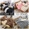 Fitted Bedsheet Set 3 Sizes - Includes Quilt Cover Flat Sheet and Pillow Case / local SG seller