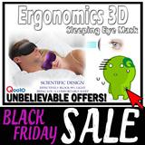 Ergonomics 3D Sleeping Eye Mask / Light Weight 18 Grams/ Zero Pressure / For a Comfortable and Deep Sleep