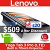 Lenovo Yoga Tab3 Pro Tablet / 10inch Display /Built-in Projector / 2+32GB / Local Set w 1yr Warranty