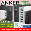 ★TOP SG SELLER★ ANKER 2/5/6-Port Multi USB Charger 24W-60W Qualcomm Quick-Charge (18 Mths Warranty 100% AUTHENTIC LOCAL STOCK) Apple/Android/Fast Smart Charge iPhone/iPad/Samsung/Powerbank/Xiaomi/LG