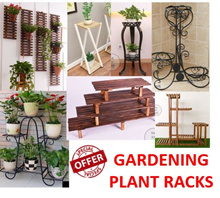 plant stand Carbonized cedarwood/Metal Plant Stand for Indoor/outdoor/ plant organizer/ Gardening