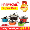 [Today $89.9][Happycall Genuine] ★Today Only★ Alumite Ceramic Pot 2~5 Set collection