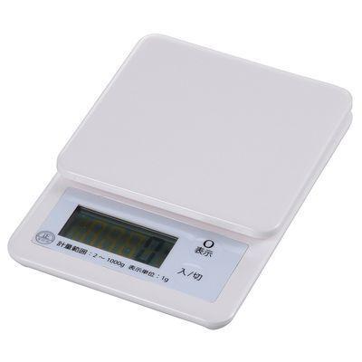 オーム電機キッチンスケール(1?計)ホワイトCOK-S100-WCOKS100W