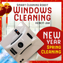 [CNY Window Cleaning] Glass Cleaning Robot HOBOT 268 with Remote Control (Local warranty!)