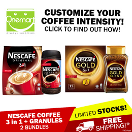 Nescafe ★ Customize your Coffee Intensity! ★ 3 in 1 + Coffee Granules 50g ★ Gold Blend / Original