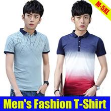 2017 Mens Summer Joker  Short Sleeve T-Shirt/ Casual Blouse