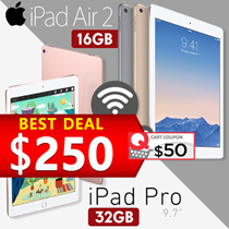 [Demo Clearance] iPad Air 2 16GB Wifi only | iPad Pro 9.7 32GB Wifi Only 30days Warranty
