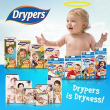 DRYPERS DryPantz M to XXL (4 Packs) / Wee Wee Dry Tape M to XXL (3 Packs) / Touch Tape NB to XXL
