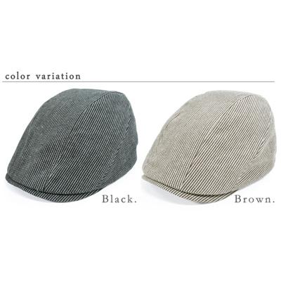 オシャレでダンディなハンチング 58cm/60cm/62cm メール便送料無料【商品名:3サイズストライプハンチング】UV 紫外線対策 帽子 レディース 大きいサイズ 、帽子 メンズ 大きいサイズの画像