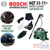 Bosch AQT 33-11 High pressure Water Cleaner. Suitable for Home Use such as Car Washing Outdoor Area