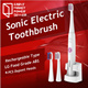 [New Arrival]Rechargeable 4 PCS Brush Heads Oral Hygiene Dental Care Ultrasonic Electric Toothbrush Rechargeable type sonic electric toothbrush automatic adult toothbrush 4 pcs Dupont brush heads