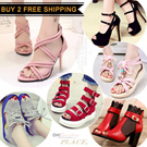 2016 New Heels / Sandals / Flats / Slippers / Wedges / Casual shoes / Beach shoes / Transparent Shoes / Retro / Bohemian style / Princess shoes / High-heeled shoes