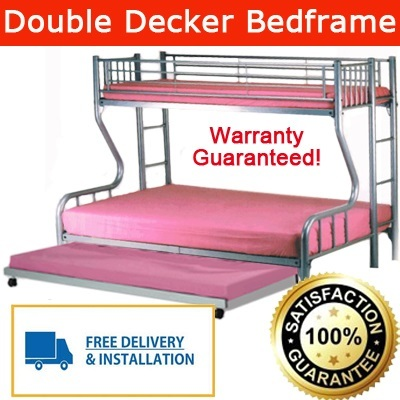 Qoo10 double deck bed bottom queen size top single promotion price only furniture deco - Double decker bed ...