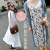 ★韓国ファッション★ クラシカル  カーディガン 体型 カバー 春物 薄手 透け感 ベスト ロング ベスト ロ