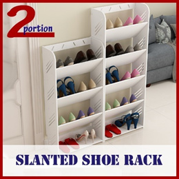 SLANTED SHOE RACK / AVAIL IN DIFFERENT TIER / SELF ASSEMBLY REQUIRED / WATERPROOF / STORAGE/CABINET
