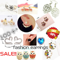 [New Arrival] ♡ SALE ♡100 + type ♪the talk of magazine♥ cute earrings Western / Japan / Korea style accessories ♥fashion earrings♥(pay 1 shipping fee for 40 pairs!)