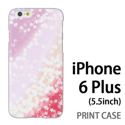 iPhone6 Plus (5.5インチ) 用『0312 桜グラデーション 赤×紫』特殊印刷ケース【 iphone6 plus iphone アイフォン アイフォン6 プラス au docomo softbank Apple ケース プリント カバー スマホケース スマホカバー 】の画像