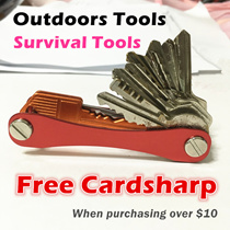 Survival Tools/Outdoor tools/CardSharp/Folding Safety Knife/Stainless Steel Blade/Multi-functional Stainless Steel Card/Keysmart/Key Organiser/Key ring/Survival wishtle/Nail clipper