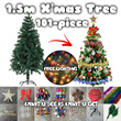 1.5m Full Size Christmas Tree - FREE 12 TYPES DECOR AND LIGHTING - Collection and Delivery after 9th December 2015  (Limited available)
