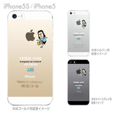 【ウルグアイ】【FUTBOL NINO】【iPhone5S】【iPhone5】【サッカー】【iPhone5ケース】【カバー】【スマホケース】【クリアケース】 10-ip5s-fca-ug01の画像