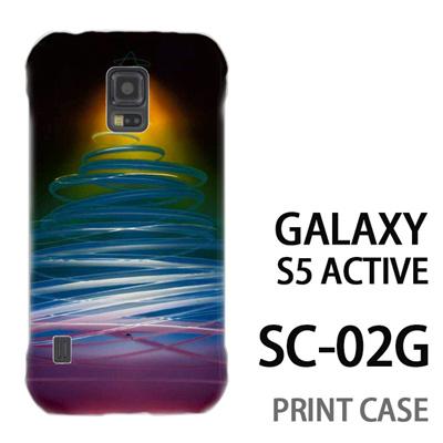 GALAXY S5 Active SC-02G 用『1222 ネオンツリー 黄』特殊印刷ケース【 galaxy s5 active SC-02G sc02g SC02G galaxys5 ギャラクシー ギャラクシーs5 アクティブ docomo ケース プリント カバー スマホケース スマホカバー】の画像