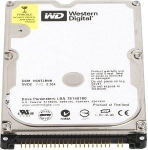 【クリックで詳細表示】WESTERNDIGITAL2.5インチ内蔵HDD80GBU-ATA1005400rpm8MBWD800BEVE