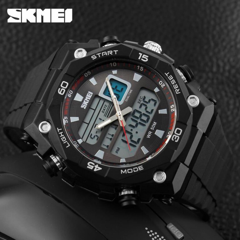 Qoo10JAM TANGAN SPORT PRIA SKMEI Casio Men Sport LED Watch Water Resistant 50m - AD1092