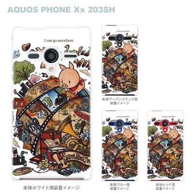【AQUOS PHONEケース】【203SH】【Soft Bank】【カバー】【スマホケース】【クリアケース】【クリアーアーツ】【アート】【SWEET ROCK TOWN】 46-203sh-sh0014の画像
