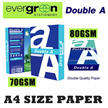 Double A A4 70 GSM / 80GSM papers per Carton