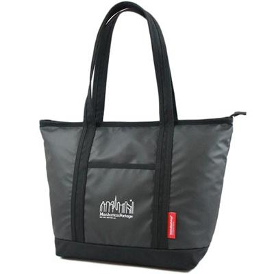 マンハッタンポーテージ(Manhattan Portage) ロゴプリントチェリーヒルトートバッグ MP Logo Printed Cherry Hill Tote Bag MP1306ZP BLACK ブラック 【トートバッグ】の画像