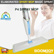 [OFFICIAL STORE] BOOMJOY P4 Elaborated Spray Mop New Version 2018 Lightly Wetness To Clean