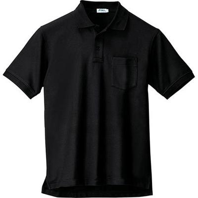 ジーベック(XEBEC)半袖ポロシャツ90/黒6170【作業服作業着ワークウエアワークウェア】