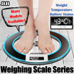 ◣WEIGHING SCALES SERIES◥ ★DIGITAL ★Glass Weight Scale with Smart Fat Analyzer ★ Measures Body Fats ★ Muscle and Bone Percentage ★ Battery Status ★ Room Temperature - [JIJI]