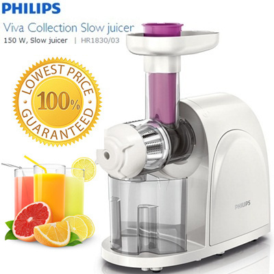 Slow Juicer Eller Blender : Buy Philips Slow Juicer HR1830?150W? / Quick Cleaning Blender Deals for only S$99 instead of S$299