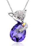 Korean Crystal Fox Necklace Y1120546