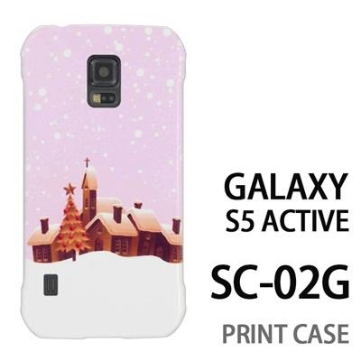 GALAXY S5 Active SC-02G 用『1222 雪降る町 ピンク』特殊印刷ケース【 galaxy s5 active SC-02G sc02g SC02G galaxys5 ギャラクシー ギャラクシーs5 アクティブ docomo ケース プリント カバー スマホケース スマホカバー】の画像