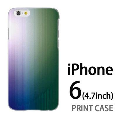 iPhone6 (4.7インチ) 用『0824 グラデーション 青緑』特殊印刷ケース【 iphone6 iphone アイフォン アイフォン6 au docomo softbank Apple ケース プリント カバー スマホケース スマホカバー 】の画像